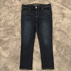 Dark wash cropped jeggings American Eagle